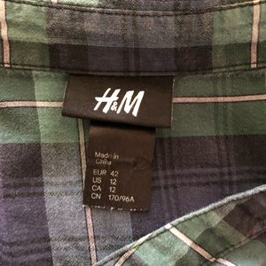 H&M Tops - 3 for $20 H&M Plaid Button Down Babydoll Tunic Top